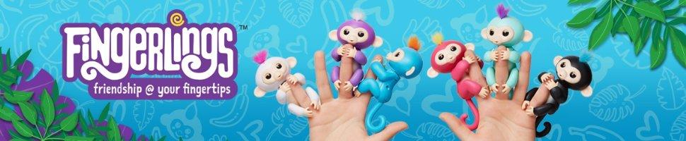 Фингерлинг обезьянка на палец, fingerlings monkey WowWee интерактивная игрушка