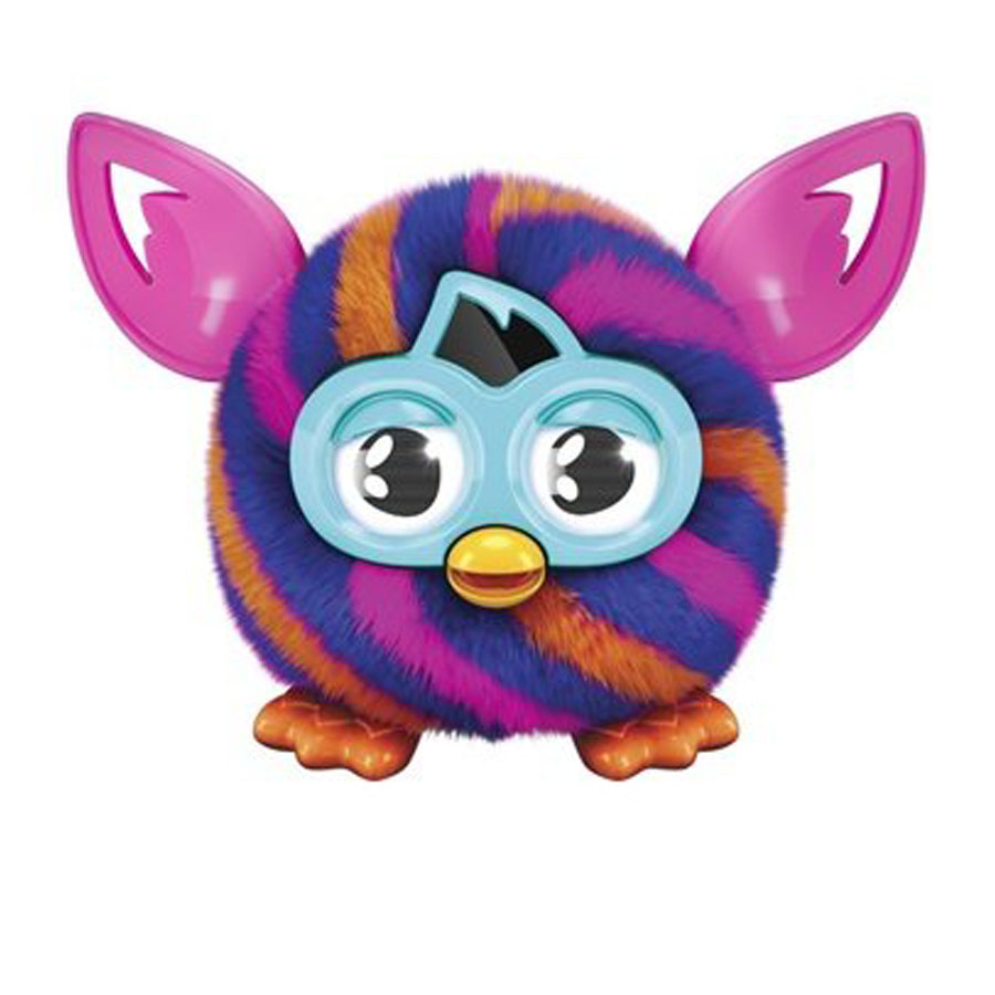 Furby Furbling Creature Orange and Blue Diagonal Stripes (Диагональные линии)