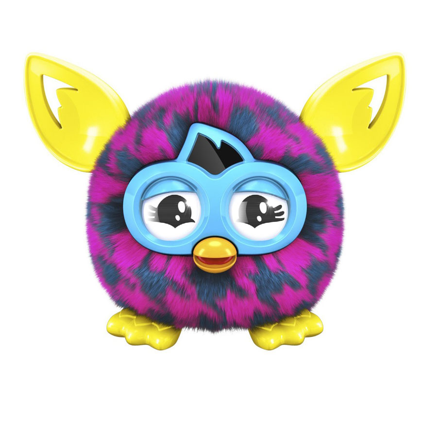 Furby Furbling Creature Pink and Blue Houndstooth (Фиолетовая лапка)