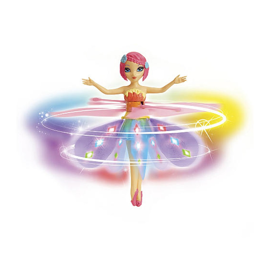 Flying Fairy-Deluxe Light Up Flutterbye Fairy-Rainbow
