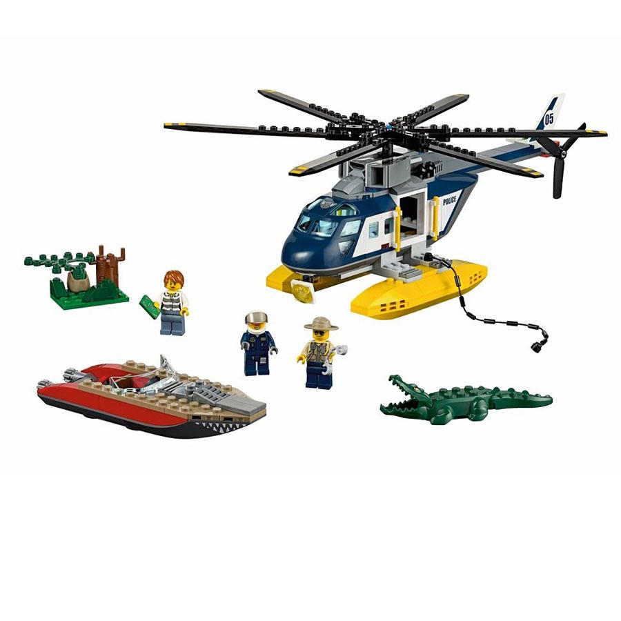 Преследование на вертолете  Лего Сити Болотная полиция купить