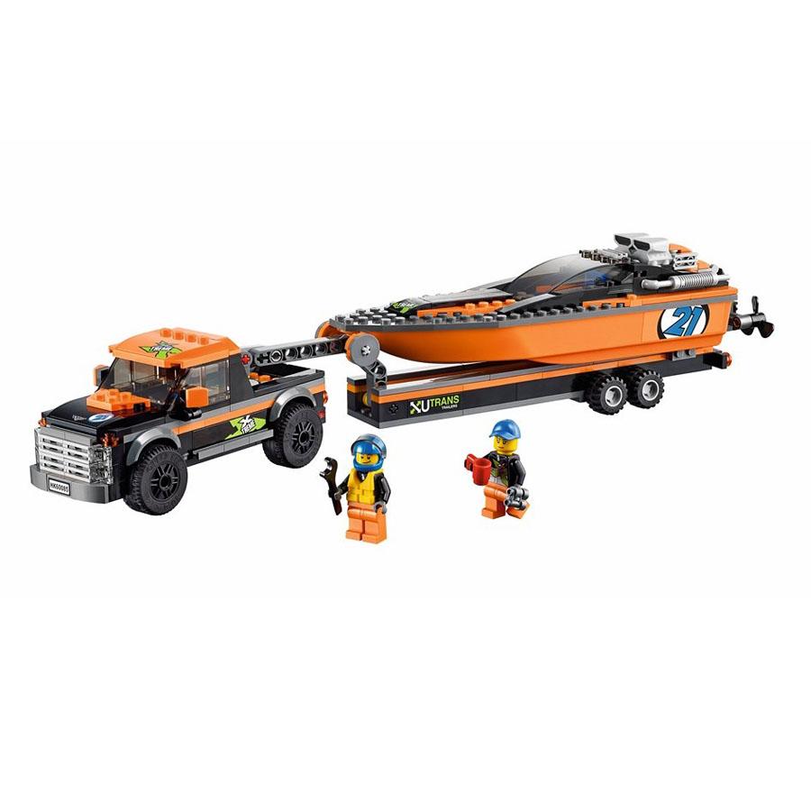 4x4 с моторной лодкой Лего СитиКрутые автомобили купить