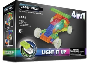 Laser Pegs гоночный автомобиль, набор (4 в 1)
