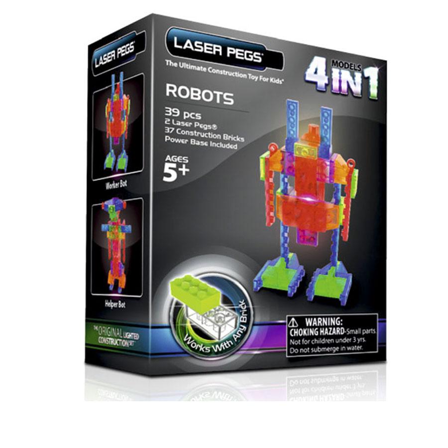 Laser Pegs робот, набор (4 в 1)