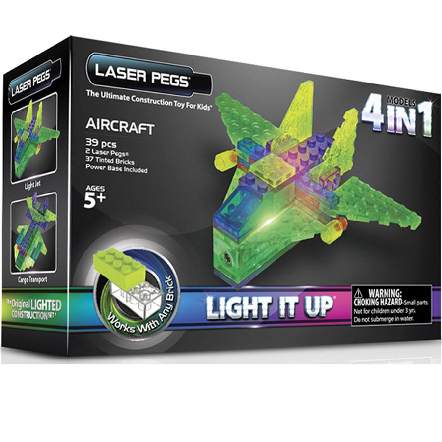 Laser Pegs самолет, набор (4 в 1)