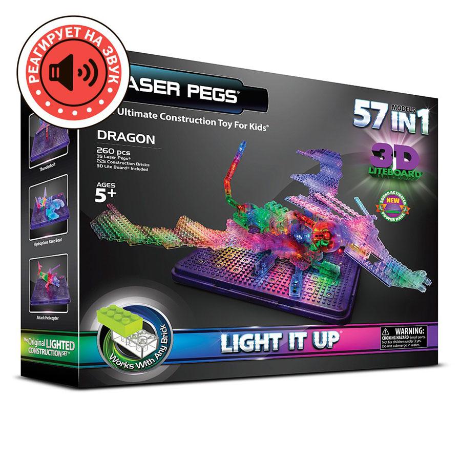 Laser Pegs Дракон, набор (57 в 1)
