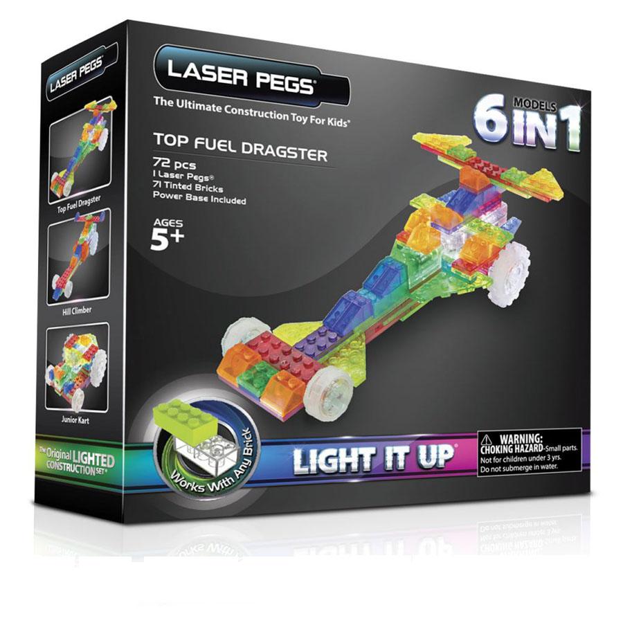 Laser Pegs драгстер (автомобиль), набор (6 в 1)