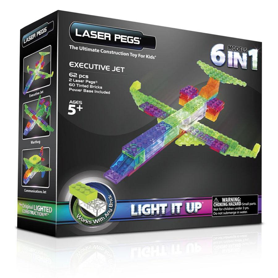 Laser Pegs cамолет, набор (6 в 1)