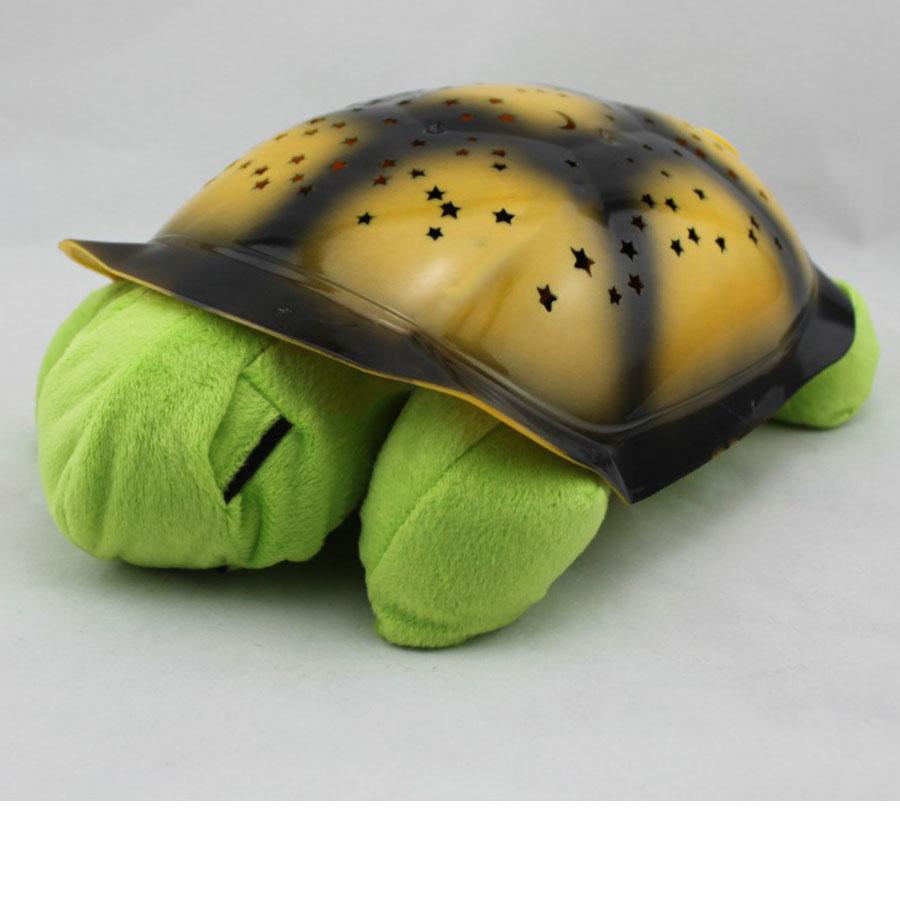Черепаха ночник проектор «Звездное небо» с музыкой (зеленый)