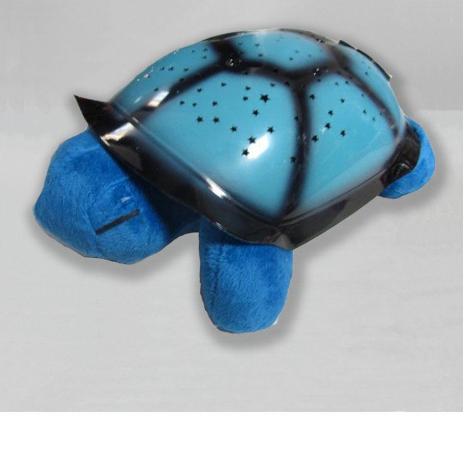 Черепаха ночник проектор «Звездное небо» с музыкой (синий)